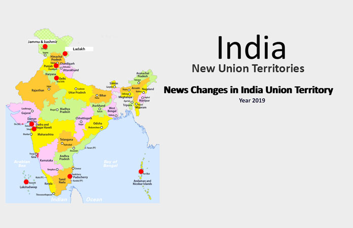 Full list of Union Territories of India with Names and Maps